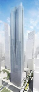 15 Hudson Yards, looking at it from the West towards the city